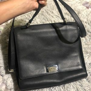 Kate spade black leather with suede purse